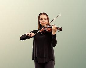 3D asset Malina 12092 - Young Woman Playing Violin