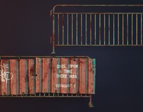 3D asset Metal Barrier