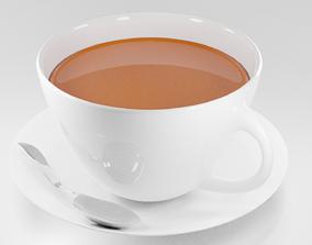 Cup of tea 3D model lunch