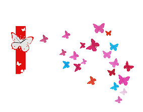 Butterfly Wall Decorations 3D model