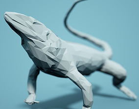 Low Poly Salamander Model low