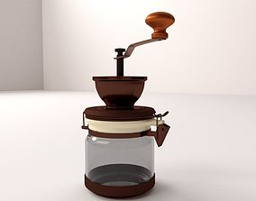 beans 3D model Coffee Grinder
