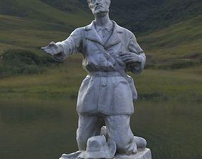 3D Kneeling Shepherd Statue