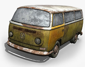 3D asset Rusted volks T2