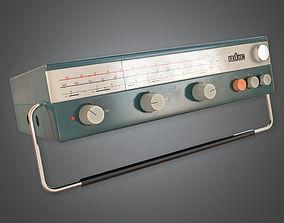 Retro Radio Midcentury Collection PBR Game 3D model