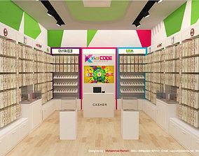 Watch Store 3D Interior Design
