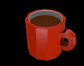 3D asset Low poly coffee mug