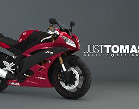 Yamaha R6 2007 Red 3D