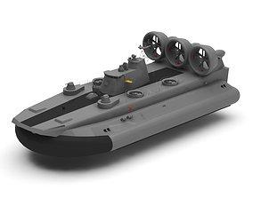 Hovercraft vessel 3D