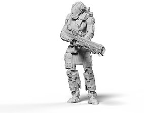 3D printable model Scifi sniper rifle miniature