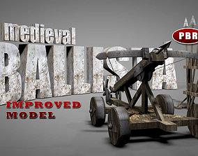 3D asset Medieval Ballista Catapult
