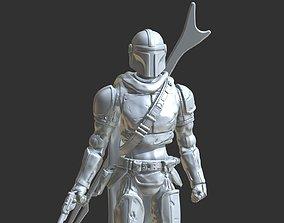 MANDALORIAN inspirited action-figure 3D print model