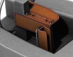 Sailboat wooden folding table 3D model