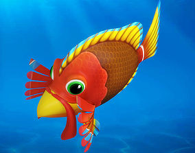 3D model Cartoon fish06 Rigged Animated