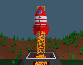 3D animation Animated Rocket Launch