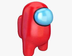 Among Us character 3D model among