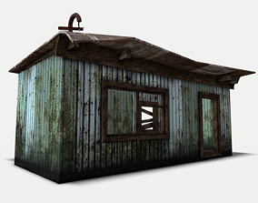 low-poly Staff room 2 - Change house 3D model