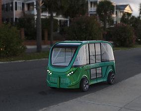 3D driverless shuttle bus navya