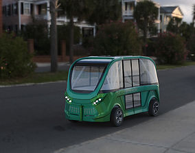 3D driverless shuttle bus navya