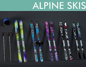3D pole ski sports equipment