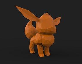 Eevee Low Poly 3D printable model