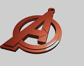 Avengers pendant stl 3D print model necklace