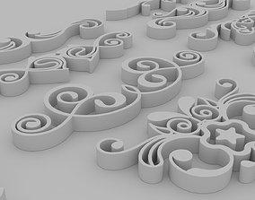 3D Ornate Swirls - Set of 11