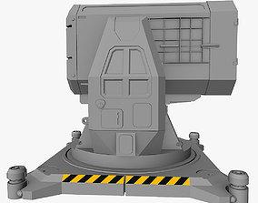 battle Sci-fi Rocket Launcher 3d Model