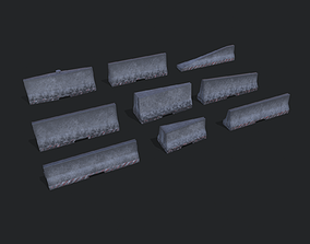 Road Barriers Collection 3D asset
