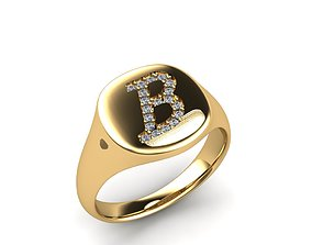 Jewelry Signature Ring engagement 3D print model