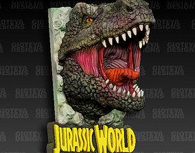 Jurassic World T-Rex Magnet 3D