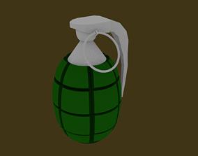 3D asset Low-Poly Frag Grenade
