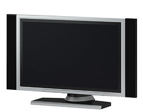 3D Black and Silver TV Dell
