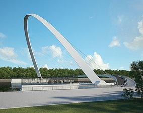 3D Gateshead Millennium Bridge