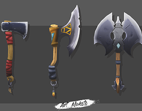 Handpaint asset of axes 3D model