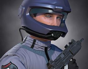 3D asset Airwolf Pilot Male