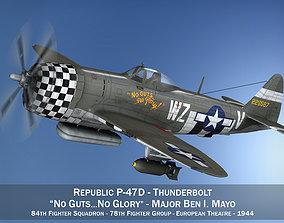 Republic P-47D Thunderbolt - No guts no glory 3D
