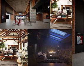 3D model Rustic Mood Feel Interior Living Room and 3