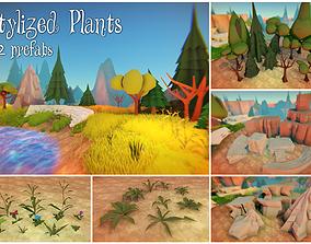 Stylized Plants 3D model low-poly