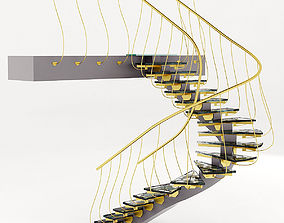 3D contemporary staircase