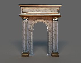 Classic Arch Gold and Marble 3D asset