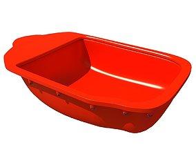 Red Engine Oil Pan 3D model