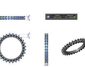 3D printable model Full Eternity Ring Brilliant Cut 2