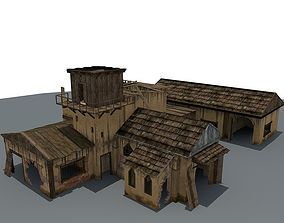 3D Ruined House 3