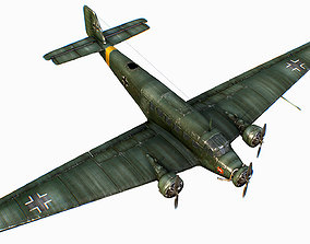 German transport aircraft Junkers Tante Ju 52 3D model