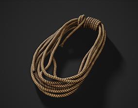 3D asset Climbing rope coil