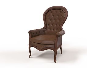 3D leather chair highly detailed