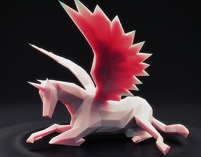 3D asset Unicorn Low Poly 4