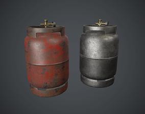 Portable LPG Gas Tank 2 PBR Game Ready 3D asset