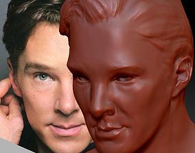 Benedict Cumberbatch Sherlock 3d model statue